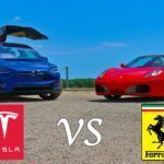 VIDEÓ: Tesla Model X vs. Ferrari F430