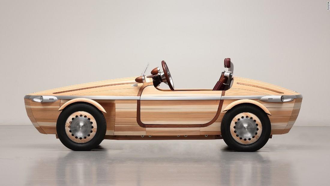 A Toyota fából épített elektromos autót