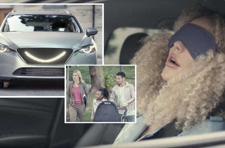 Mosolyogva üzen a gyalogosoknak az önvezető autó - VIDEÓ