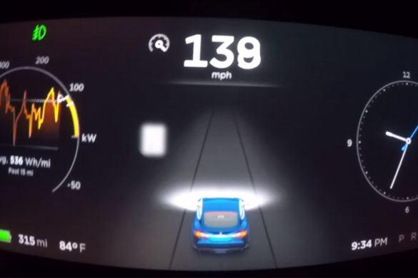 Videón a Model S P100D gyorsulása