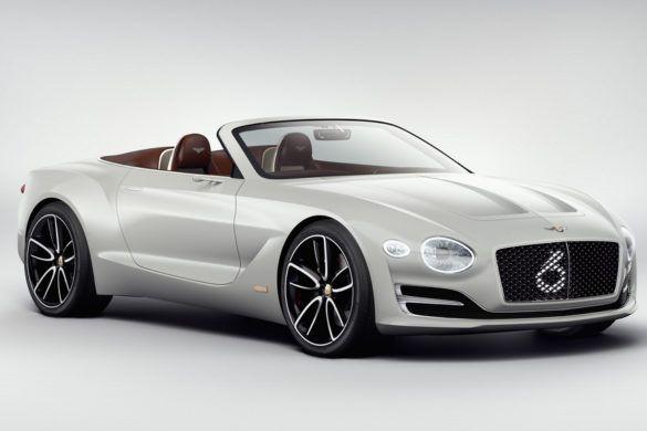 Teljesen hangtalanul suhan a Bentley új elektromos kabriója