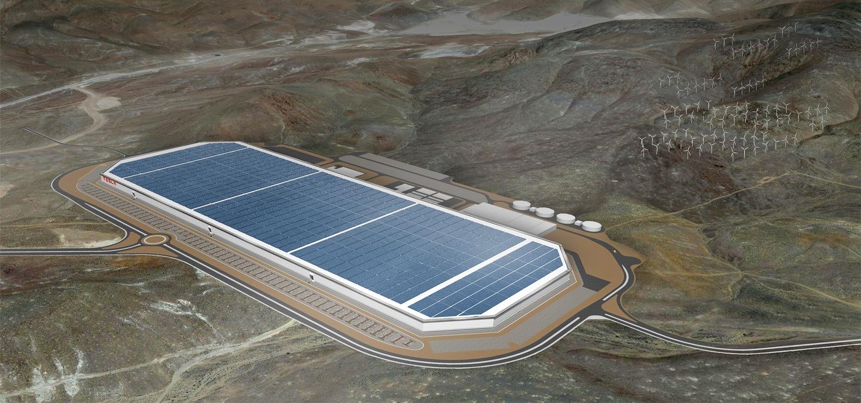 A Tesla nevadai gyárának látványterve