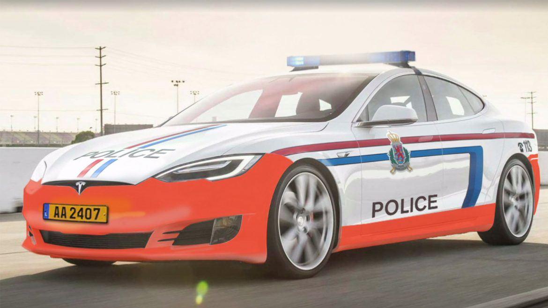 Model S villanyautók a luxemburgi rendőrségnél