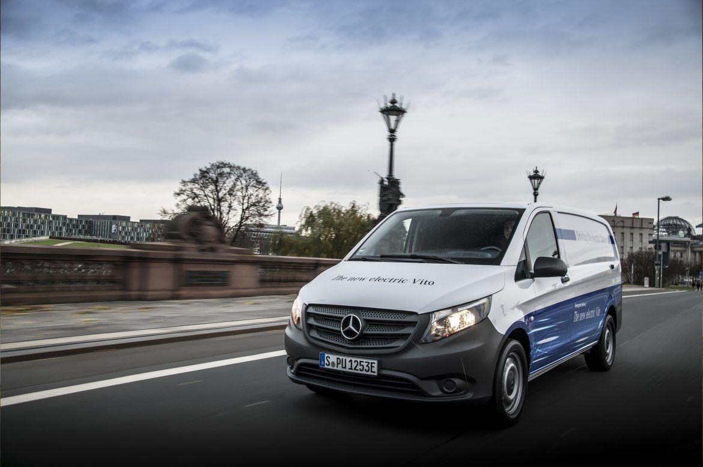 Itt a Mercedes új tisztán elektromos furgonja