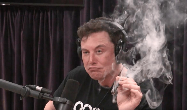 Musk az elektromos utasszálítókról beszélt, majd beleszívott egy füves cigibe