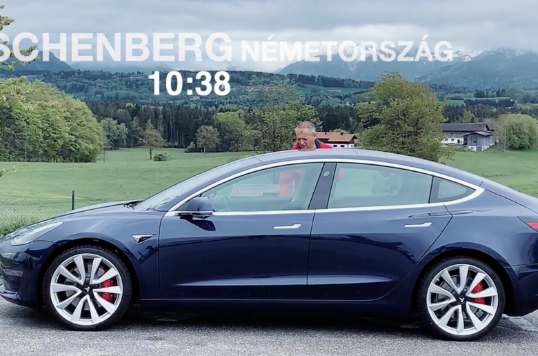 Tesla Model 3 Performance, München - Budapest [videó]