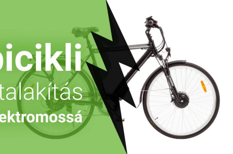 Hagyományos bicikli átalakítása elektromossá