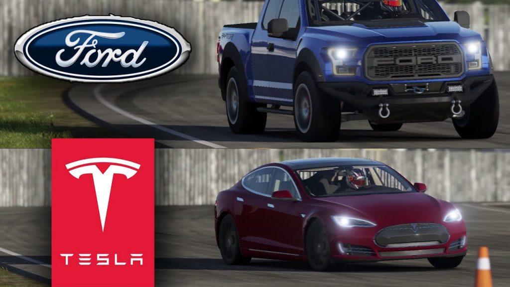 Ford F150 Raptor és Tesla Model S
