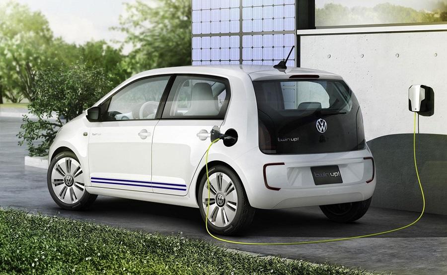 VW e-up töltése