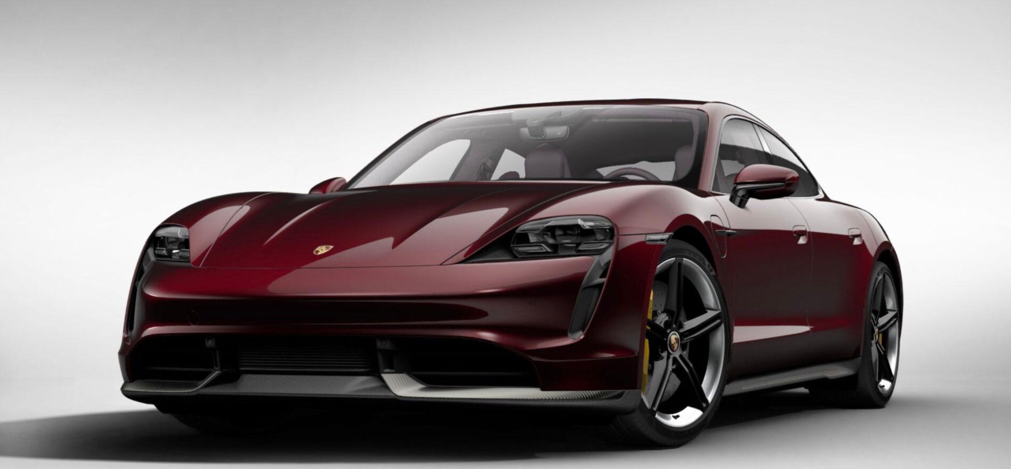 Gyönyörű színeket kap a 2021-es Porsche Taycan