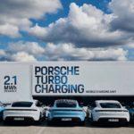Magyarországra hozták a Porsche 3,2 MW-os töltőkamionját