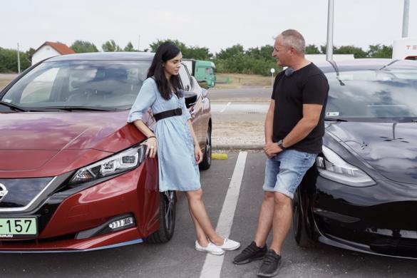 Tesla Model 3 vs Nissan Leaf hatótáv teszt [videó]