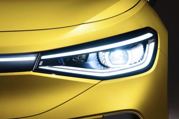 Elég jól sikerült az új Volkswagen ID.4 fény dizájnja
