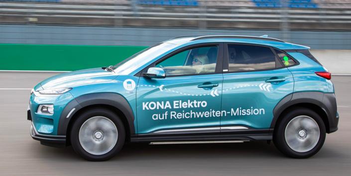 Több mint 1000 kilométer egy töltéssel, hatótáv-rekord Hyundai Kona Electric