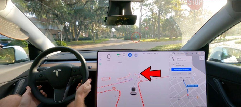 A gyalogosokra is figyel a Tesla önvezető rendszere